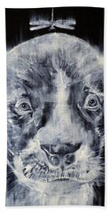 Pit Bull Cub And Dragonfly Hand Towel
