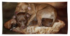 Pitbulls - The Softer Side Bath Towel