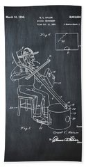 Pitch Fork Fiddle And Drum Patent 1936 - Chalk Hand Towel