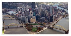 Pittsburgh 8 In Color  Hand Towel
