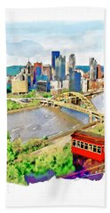 Pittsburgh Aerial View Bath Towel