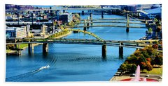 Pittsburgh At The Point Hand Towel