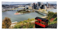 Pittsburgh From Incline Bath Towel