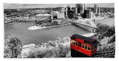 Pittsburgh From The Incline Bath Towel