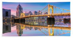 Pittsburgh North Shore Reflections  1 Bath Towel