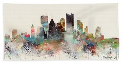 Pittsburgh Pennsylvania Skyline Hand Towel