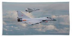 Hand Towel featuring the photograph Plaaf J10 - Vigorous Dragon by Pat Speirs
