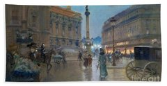 Place De L Opera In Paris Bath Towel