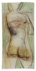 Bath Towel featuring the drawing Placid by Paul McKey