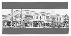 Plains Ga Downtown Hand Towel