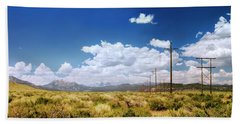 Plains Of The Sierras Hand Towel