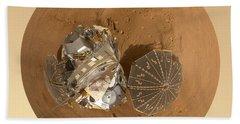 Planet Mars Via Phoenix Mars Lander Hand Towel