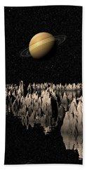 Planet Saturn Bath Towel by Phil Perkins