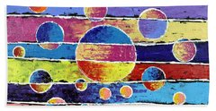Planet System Hand Towel by Jeremy Aiyadurai