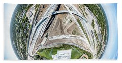 Hand Towel featuring the photograph Planet Under Construction by Randy Scherkenbach