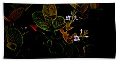 Plants In Abstract 19 Bath Towel