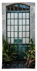 Bath Towel featuring the photograph Plants In The Doorway by Marco Oliveira