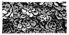 Plants Of Black And White Hand Towel