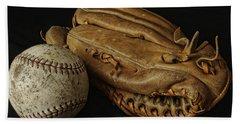 Play Ball Hand Towel by Richard Rizzo