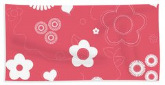 Playful Flower Background Hand Towel by Serena King
