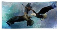 Playful Eagles Bath Towel