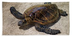 Playful Honu Bath Towel by Pamela Walton