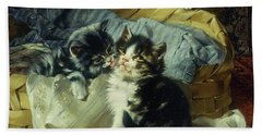 Playful Kittens Bath Towel