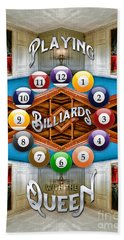 Playing Billiards With The Queen Versailles Palace Paris Hand Towel