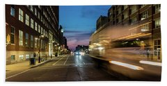 Hand Towel featuring the photograph Playing In Traffic by Randy Scherkenbach