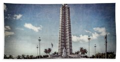 Bath Towel featuring the photograph Plaza De La Revolucion by Lou Novick