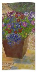 Hand Towel featuring the painting Pleasure Pot by Richard James Digance