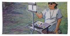 Plein-air Painter Bj Bath Towel