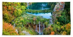Plitvice Lakes In Croatia Hand Towel