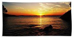 Plum Cove Beach Sunset G Hand Towel