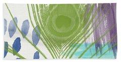Plumage 4- Art By Linda Woods Bath Towel