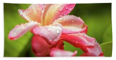 Hand Towel featuring the photograph Plumeria 13 by Leigh Anne Meeks