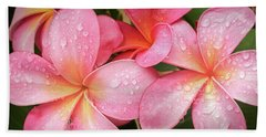 Hand Towel featuring the photograph Plumeria 14 by Leigh Anne Meeks