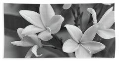 Plumeria Flowers Hand Towel by Olga Hamilton