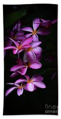 Plumeria Light Hand Towel by Kelly Wade