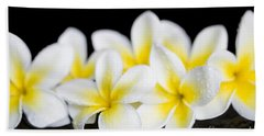 Hand Towel featuring the photograph Plumeria Obtusa Singapore White by Sharon Mau