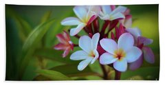 Plumeria Sunset Hand Towel by Kelly Wade