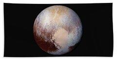 Pluto Dazzles In False Color Bath Towel by Nasa