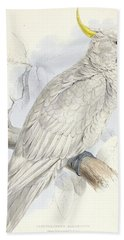 Plyctolophus Galeritus. Greater Sulphur-crested Cockatoo. Hand Towel