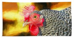 Plymouth Barred Rock Portrait Hand Towel