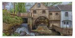 Plymouth Grist Mill Bath Towel by Brian MacLean
