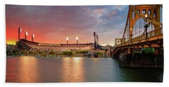 Pnc Park At Sunset Bath Towel
