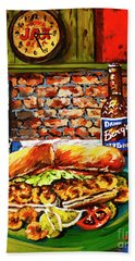Po'boy Time Hand Towel