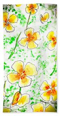 Pocket Full Of Poppies Hand Towel