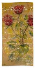 Poetica De Rosas Hand Towel