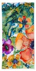 Poetry Of Petals Hand Towel